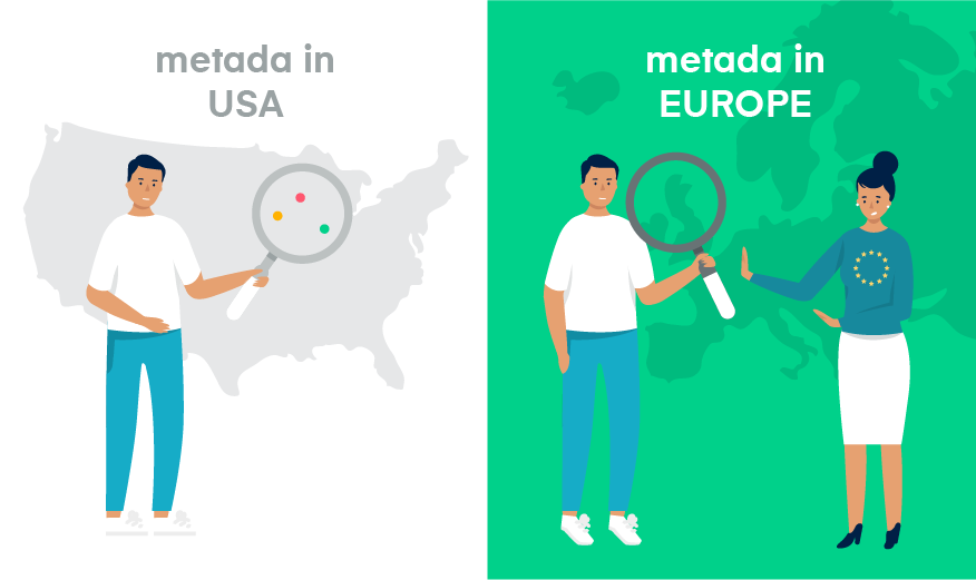 metadata in europe and metadata in the us