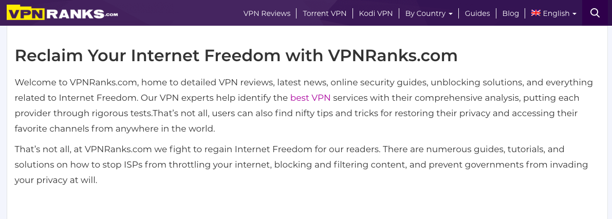 vpn ranks