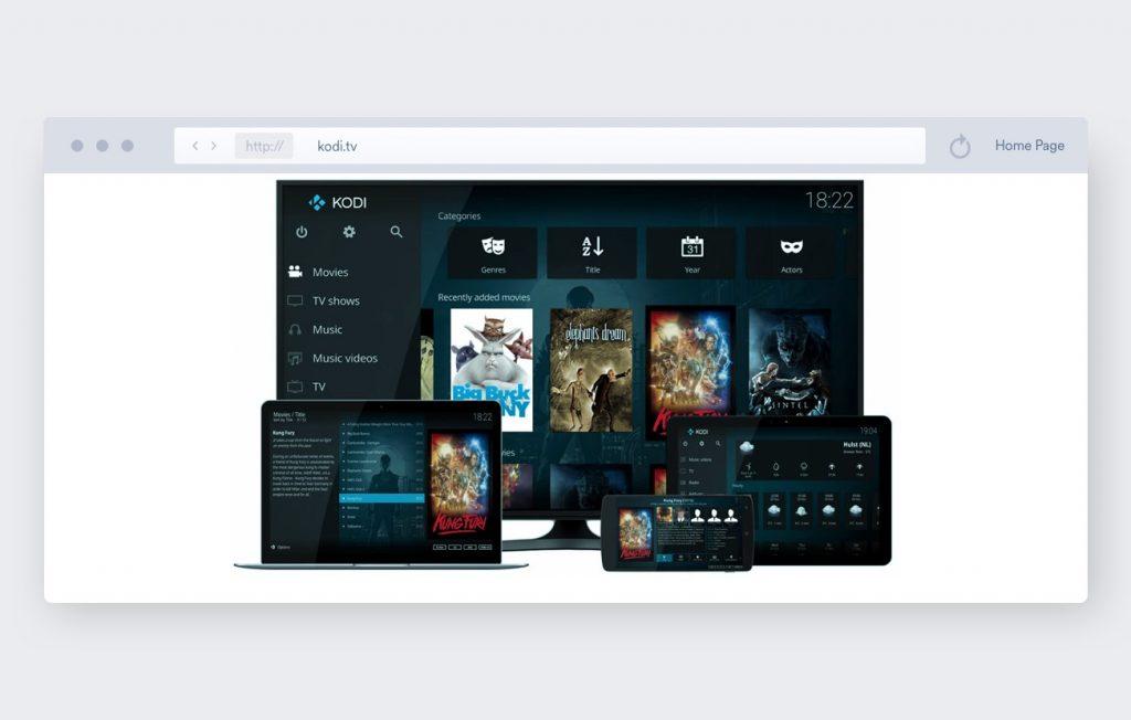 Kodi TV homescreen