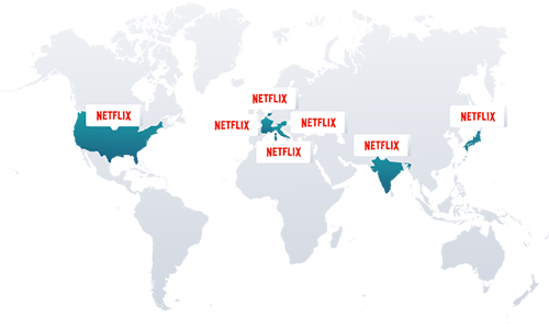 Unblock Netflix in 8 countries