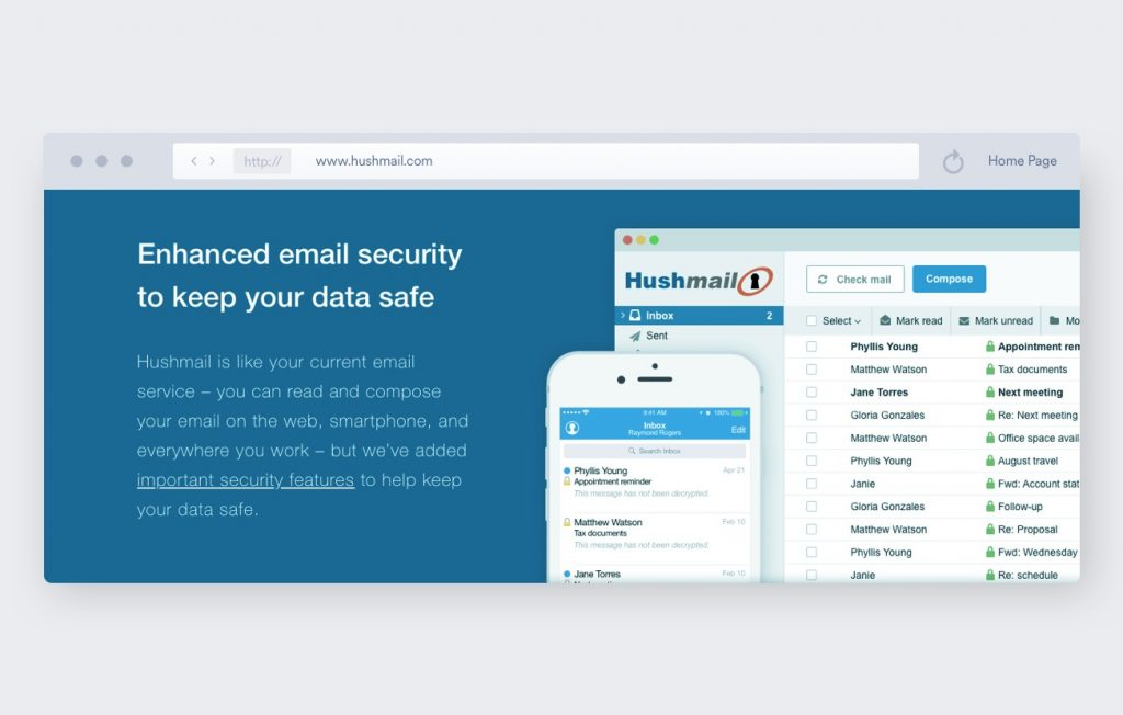 hushmail encrypted emails