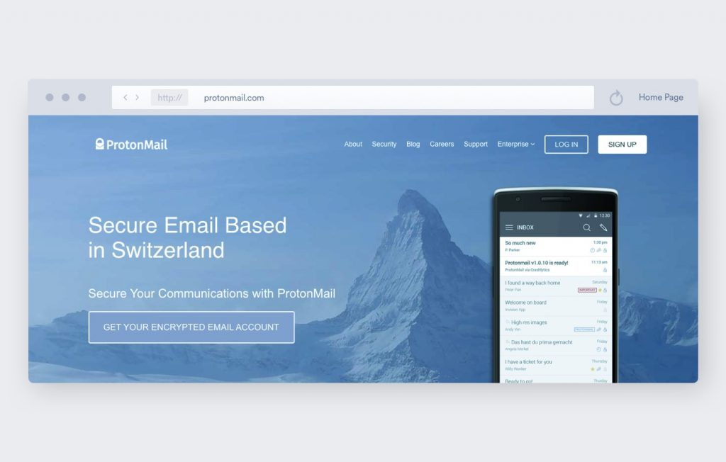 protonmail encrypted emails