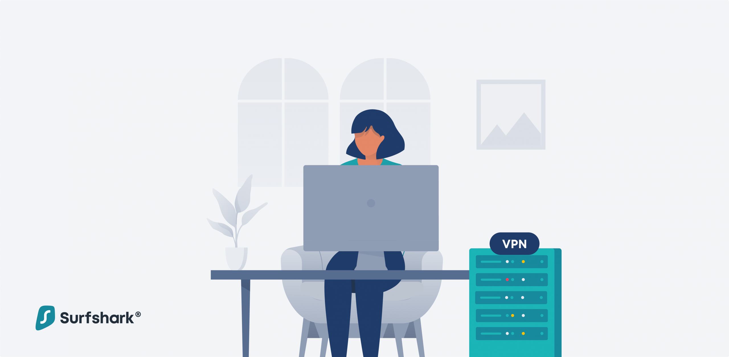 a woman setting up a vpn server at home