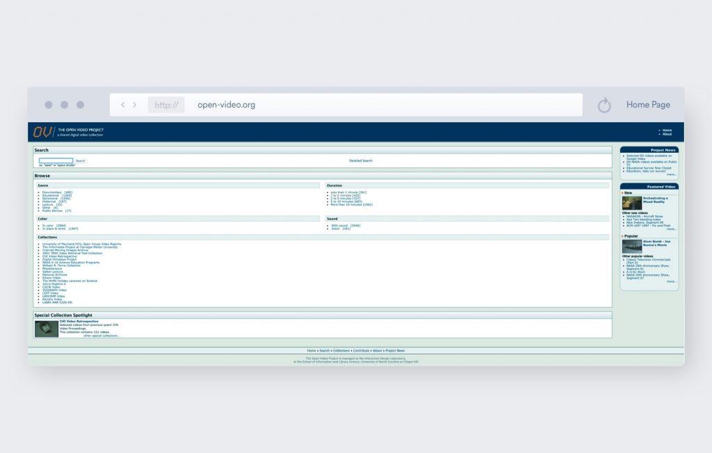 open video project screenshot