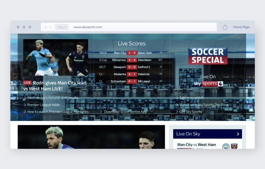 sky sports soccer streaming