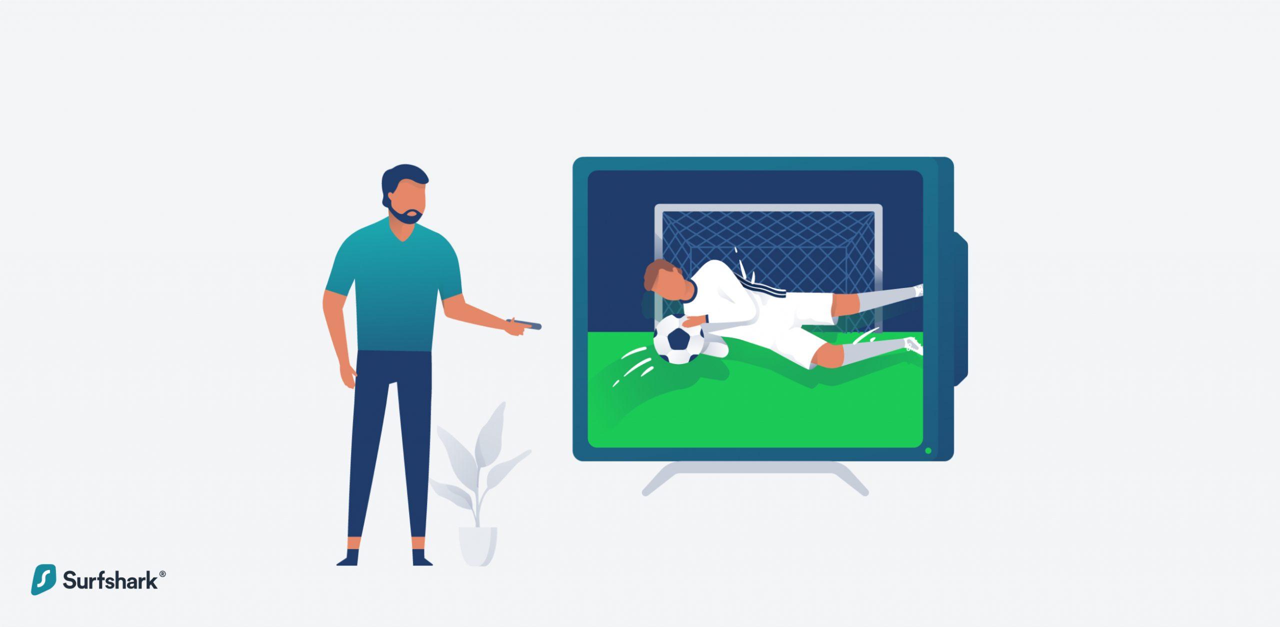 Surfshark sports streaming graphic