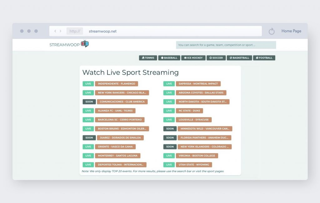 streamwoop soccer streaming