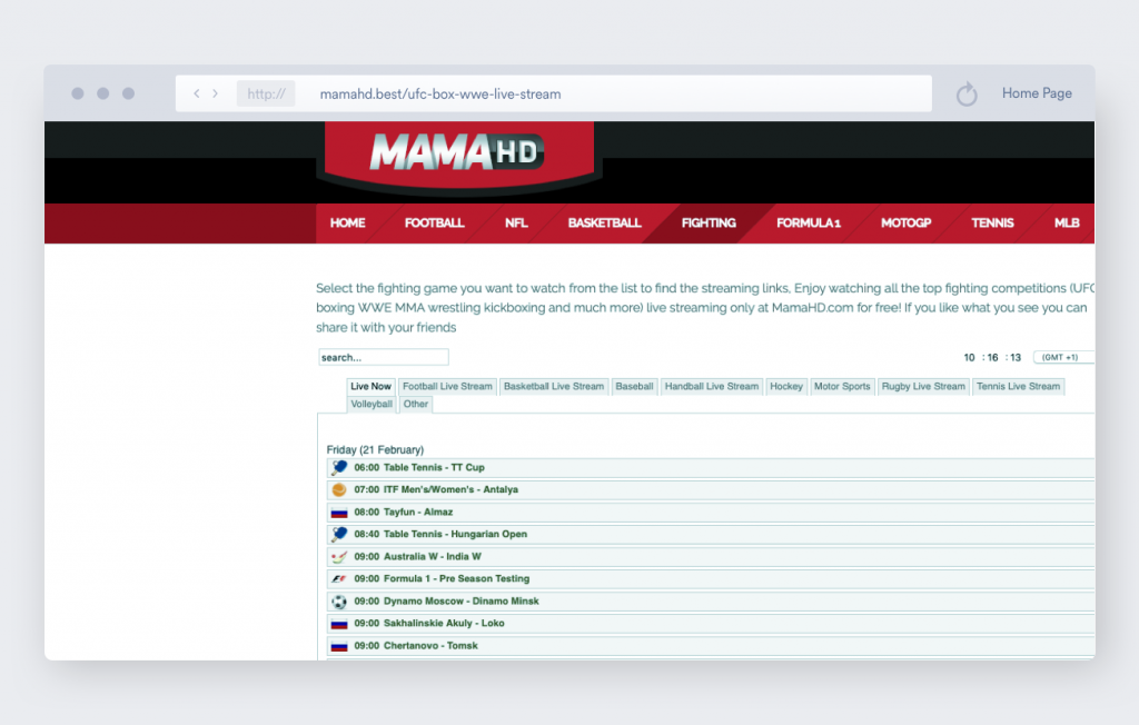 mama hd mma streaming