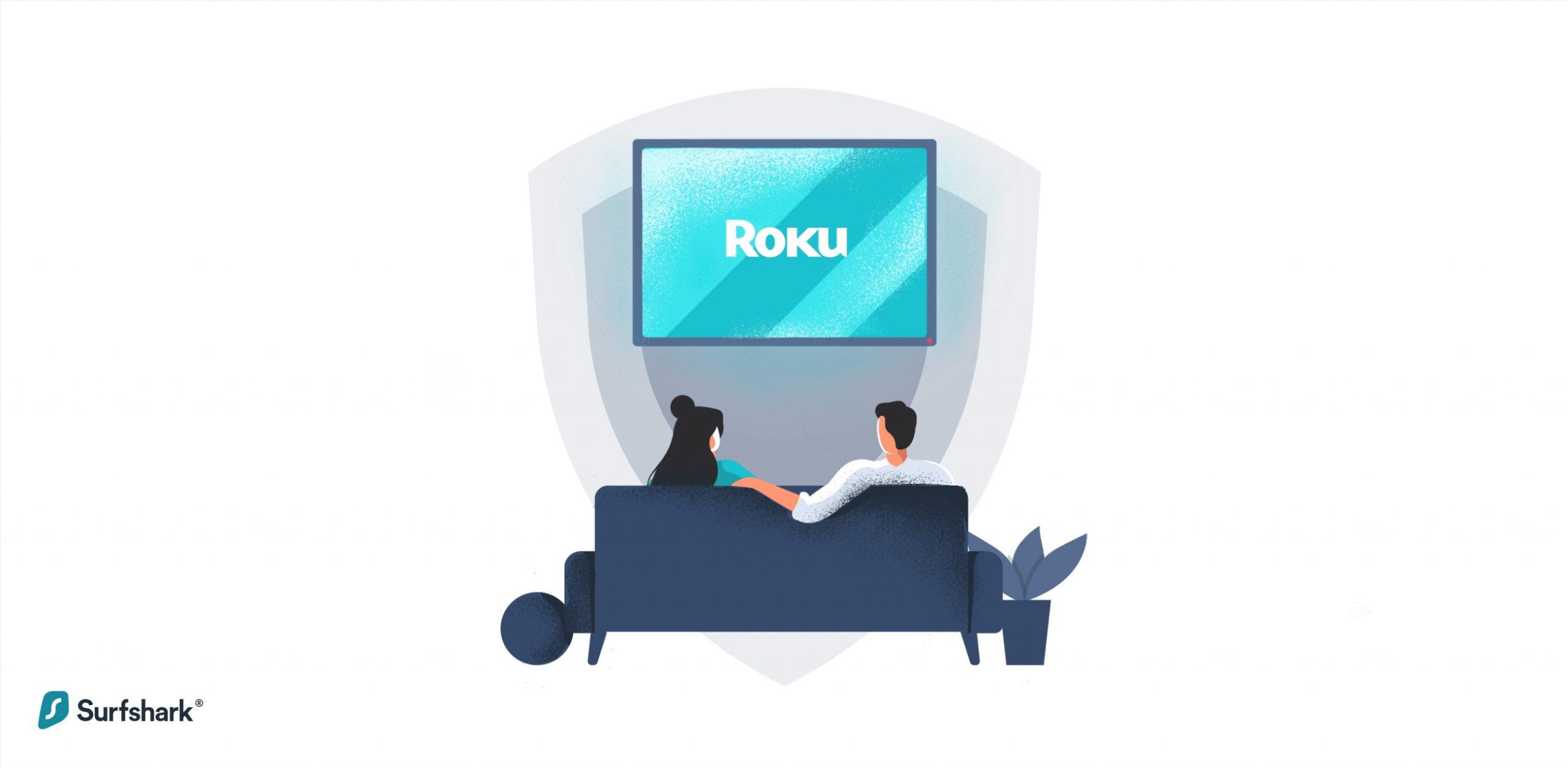 Surfshark Roku graphic