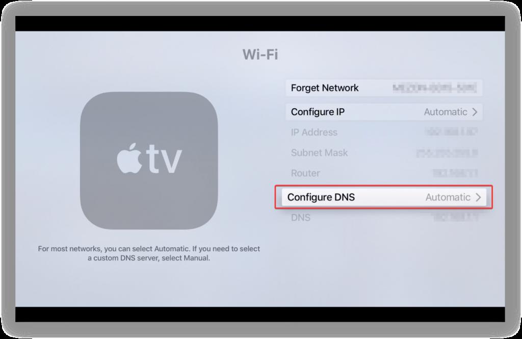 how to setup a vpn on apple tv