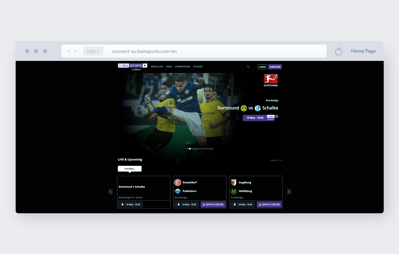 beIN sports streaming