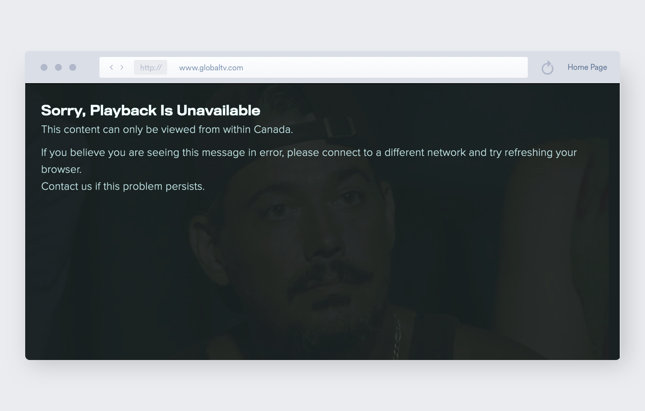 restricted content on global TV