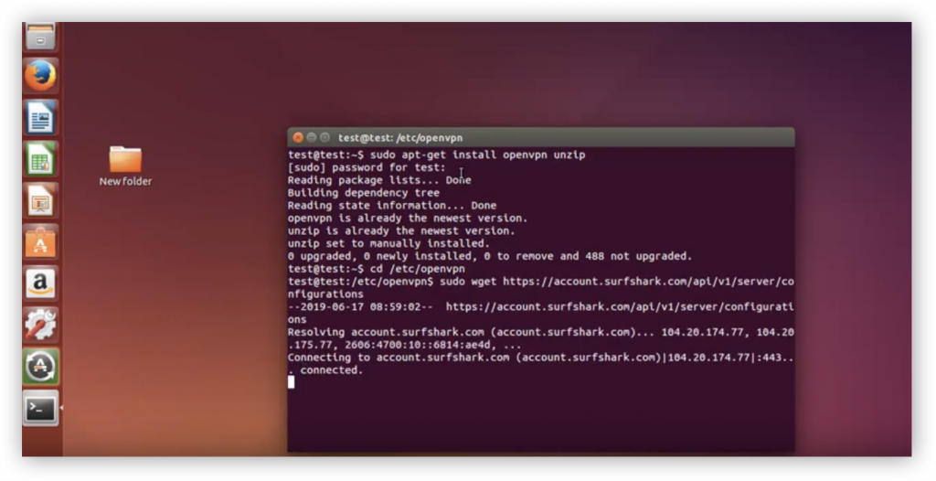 how to set up vpn on linux