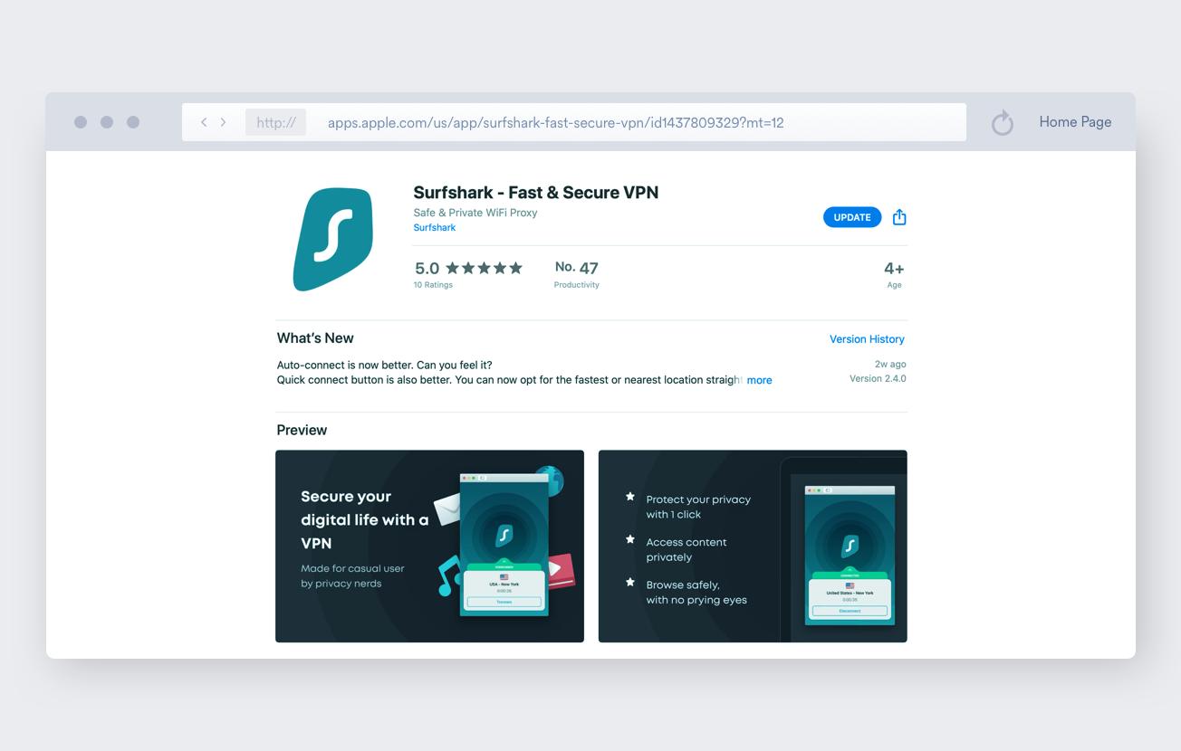 Surfshark app for macos