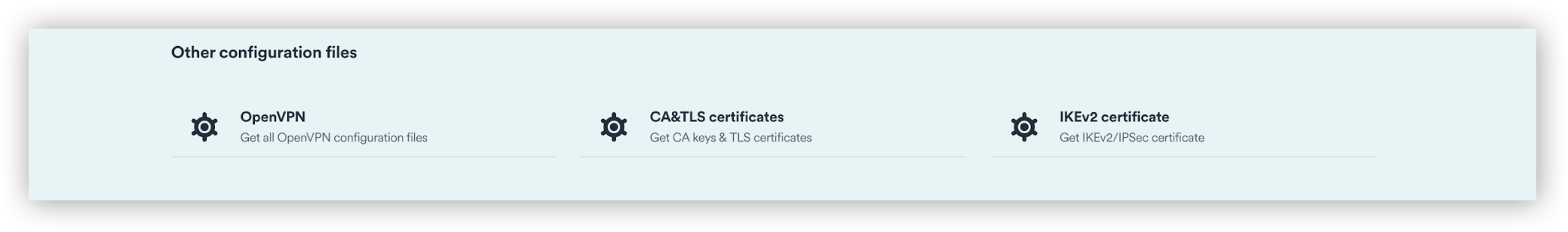 Select the IKEv2 certificate