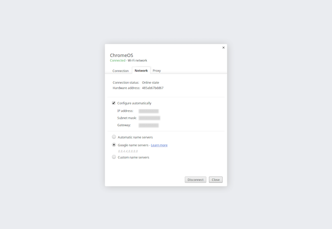 How to find router IP address on Chrome OS